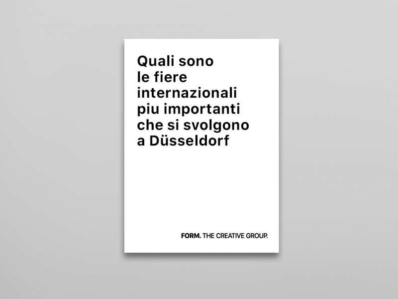Quali sono le fiere internazionali più importanti che si svolgono a Dusseldorf