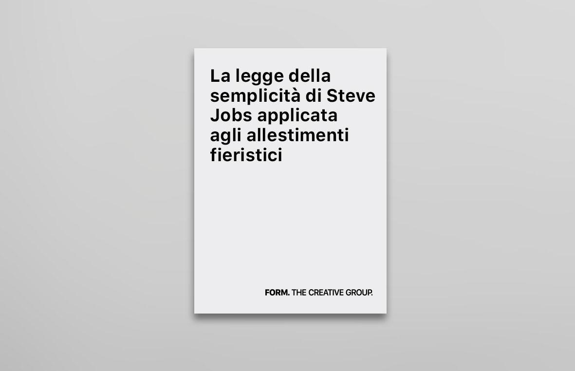 La legge della semplicità di Steve Jobs applicata agli allestimenti fieristici