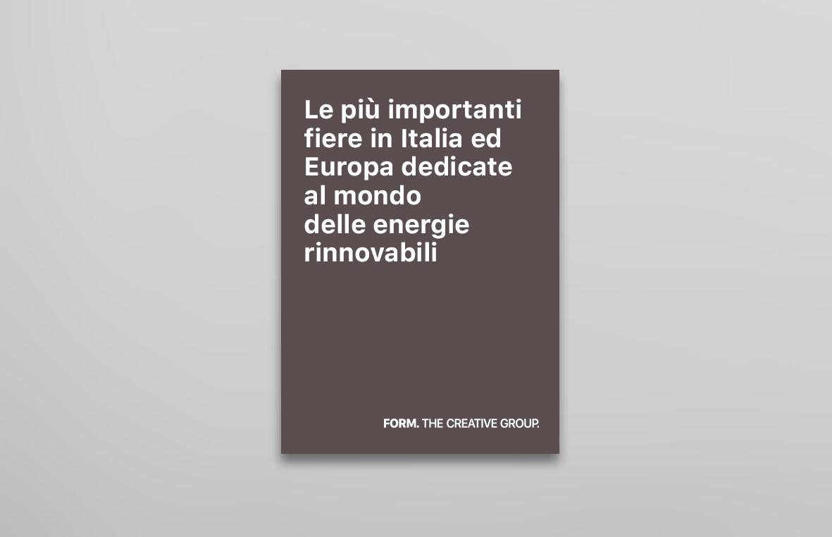 Le più importanti fiere in Italia ed Europa dedicate al mondo delle energie rinnovabili